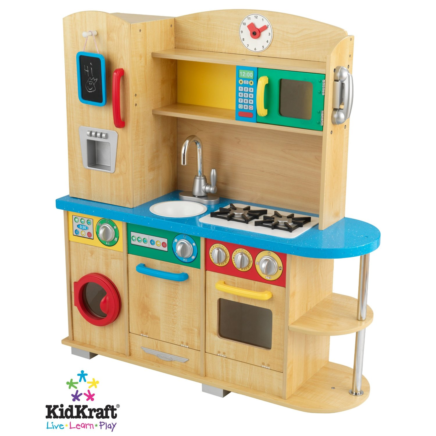 Modern Wooden Play Kitchen natural toy kitchen | healthy mama blog